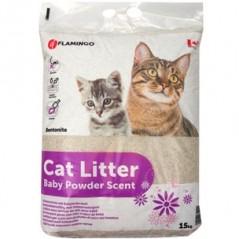 Kattenbakvulling met babypoedergeur