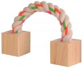 Houten blokken met touw