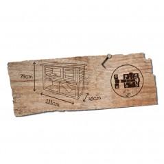 Woodland Konijnenhok Cotton Taupe